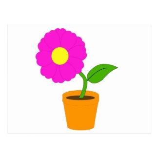 Beautiful Flower and Pot Postcard