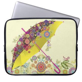 Beautiful Flower & Bird Umbrella/Parasol Computer Sleeves