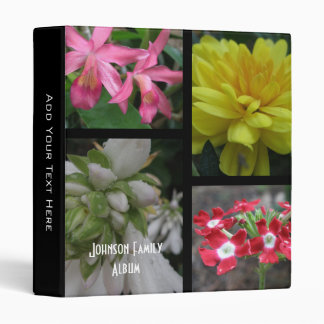 Beautiful Flower Collage Binder