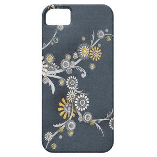 Beautiful Flower Design with Denim Blue Background iPhone SE/5/5s Case