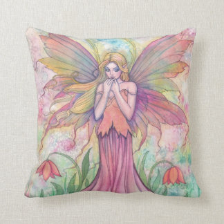 Beautiful Flower Faerie Fairy Throw Pillow