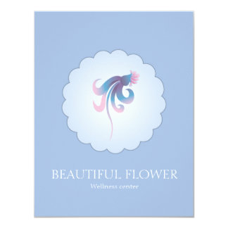 BEAUTIFUL FLOWER IN FRONT OF A CLOUD 4.25X5.5 PAPER INVITATION CARD