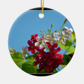Beautiful flower in the world 02 Double-Sided ceramic round christmas ornament