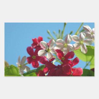 Beautiful flower in the world 02 rectangular sticker