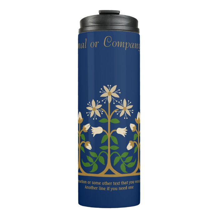 Beautiful flower ornament CC0133 Augustus Pugin Thermal Tumbler