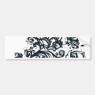 Beautiful flower pattern makes a great decoration bumper sticker