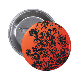 Beautiful flower pattern makes a great decoration 2 inch round button