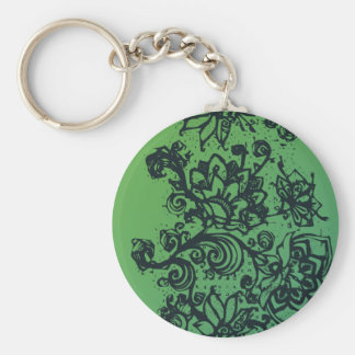 Beautiful flower pattern makes a great decoration keychain