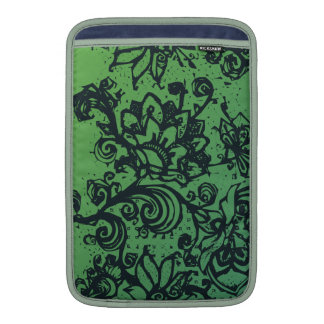 Beautiful flower pattern makes a great decoration sleeve for MacBook air