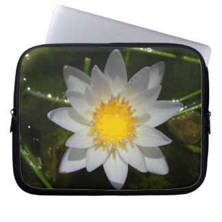 Beautiful flower white water lily laptop sleeve