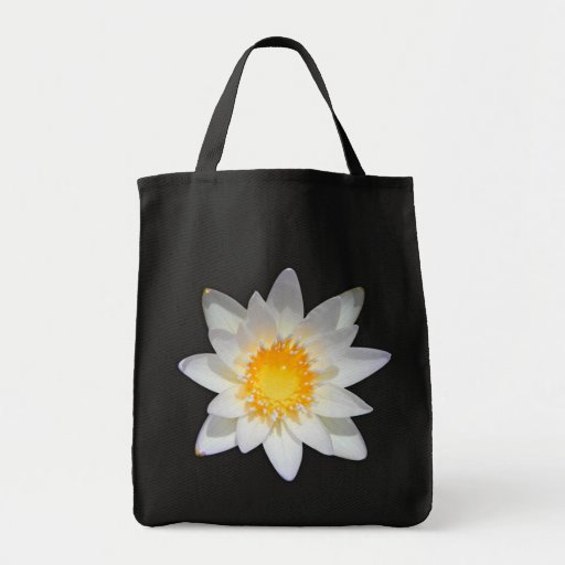 Beautiful flower white water lily tote bag
