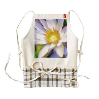 Beautiful flower zazzle HEART apron