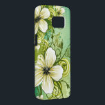 "beautiful flowers abstract swirl vector art samsung galaxy s7 case<br><div class=""desc"">beautiful flowers abstract swirl vector art</div>"