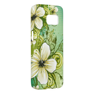 beautiful flowers abstract swirl vector art samsung galaxy s7 case