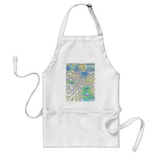 Beautiful Flowers and Feathers Design Adult Apron
