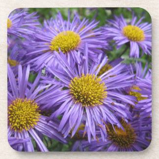 Beautiful flowers at every angle drink coaster
