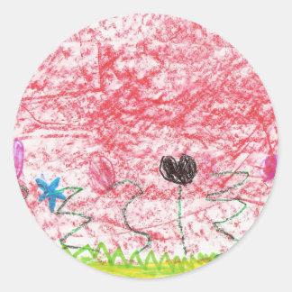 Beautiful Flowers Classic Round Sticker