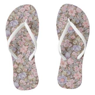 beautiful flowers floral textures flip flops