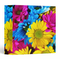 Beautiful Flowers Floral Three Ring Binder