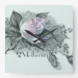 Beautiful Flowers for Mother's Day Square Wall Clocks