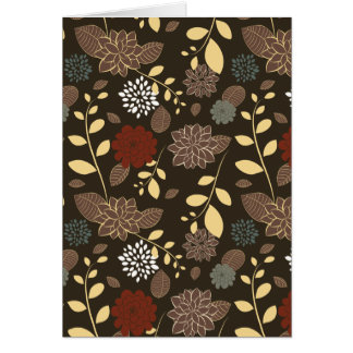 Beautiful flowers leaves branches greeting card