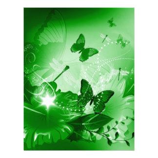 Beautiful flowers letterhead