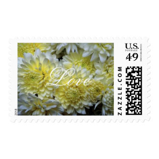 Beautiful Flowers Love 5med Postage Stamp