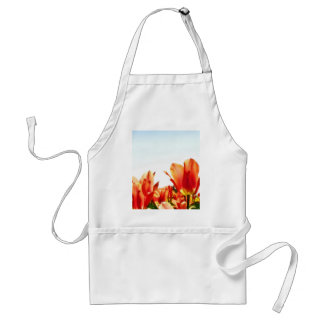 Beautiful Flowers On A Sky Background Adult Apron