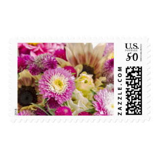 Beautiful flowers on postage stamps