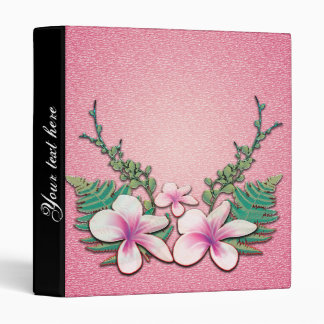 Beautiful flowers on soft pink background binder