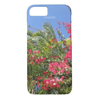Beautiful Flowers & Palm Trees In Tenerife Island iPhone 8/7 Case