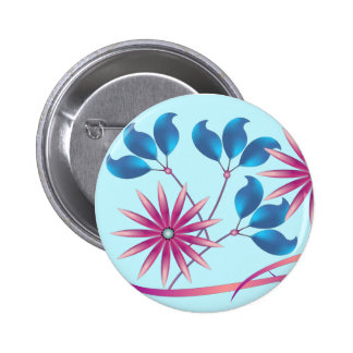 Beautiful Flowers Pinback Button