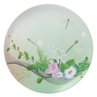 Beautiful flowers plates