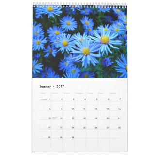 Beautiful Flowers Single Page Calendar