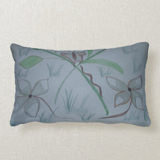 Beautiful. Flowers.   Tropical. Butterfly.   Beaut Lumbar Pillow