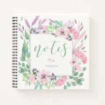Beautiful Flowers | Watercolor Floral and Leaves Notebook