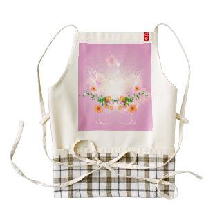 Beautiful flowers with soft purple background zazzle HEART apron