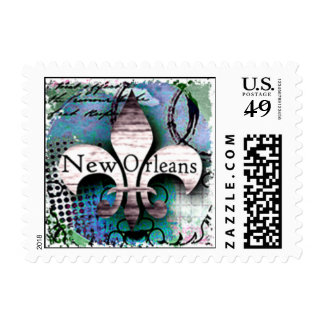 Beautiful Fluer-de-lis Postage Stamp