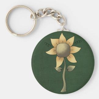 Beautiful Folk Art Sunflower Keychains