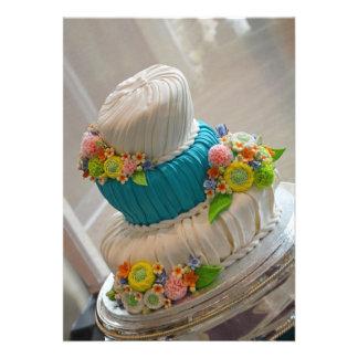 Beautiful fondant wedding cake print invitation