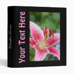 Beautiful food binder with pink lily