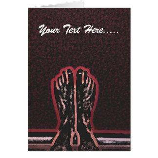Beautiful Foot Art Card