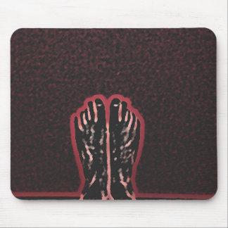 Beautiful Foot Art Mouse Pad