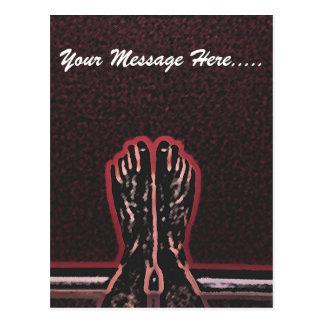 Beautiful Foot Art Postcard