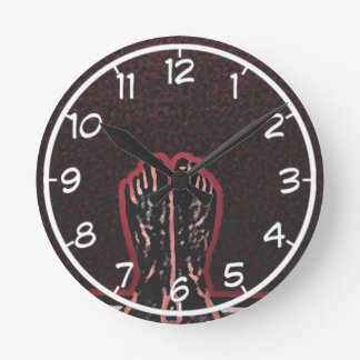 Beautiful Foot Art Round Clock