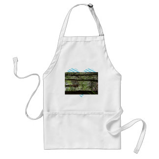 Beautiful Forest landscape with tall trees Apron