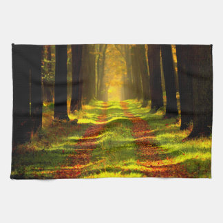 Beautiful Forest Path Road Hand Towel