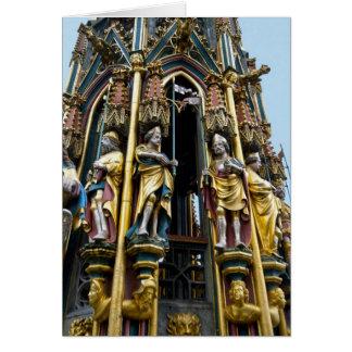 Beautiful Fountain in Nuremberg Greeting Card