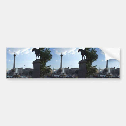 Beautiful Fountains With Lady On The High Column I Car Bumper Sticker