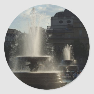 Beautiful Fountains With Lady On The High Column I Sticker